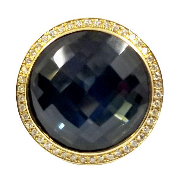 Hematite-quartz-yellow-gold-ring