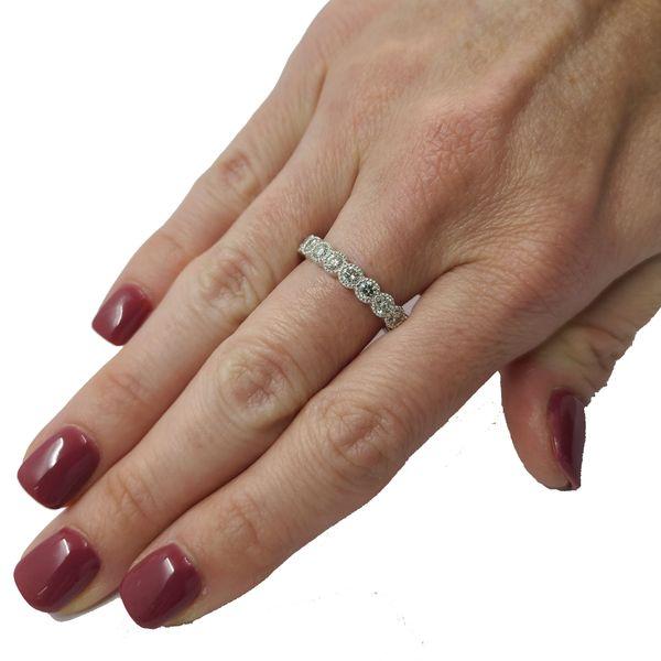 Diamond-round-cut-bezel-set-eternity-ring