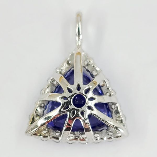 Tanzanite-and-diamond-pendant