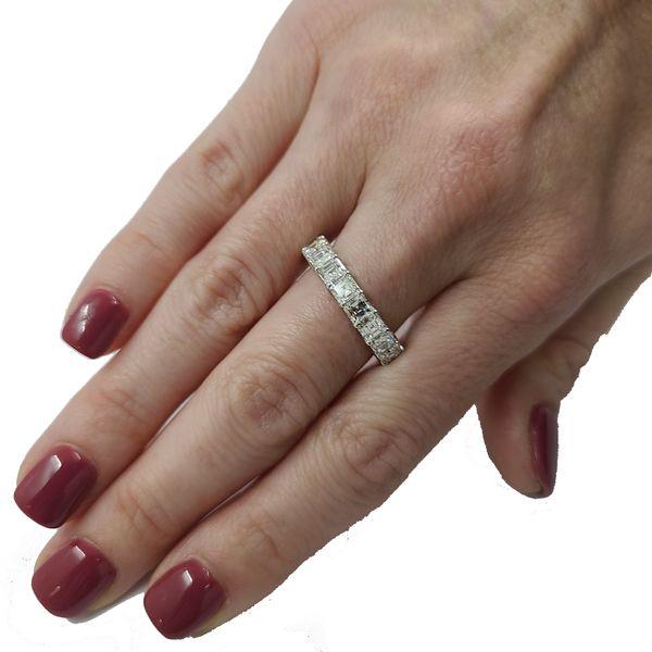 Diamond-Asscher-cut-eternity-ring