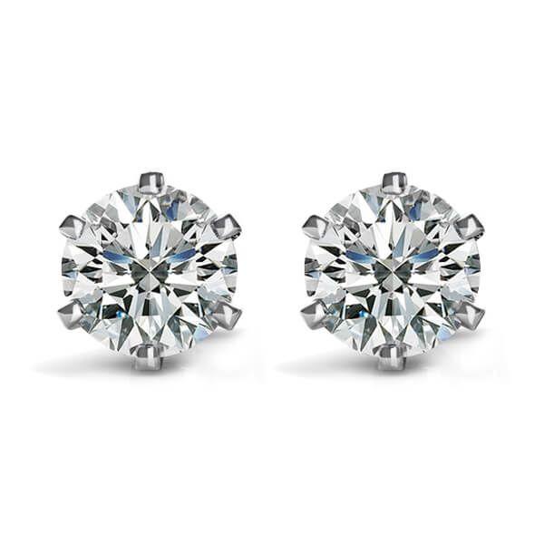 0.30-Carat-Diamond-Stud-Earrings-Six-prongs