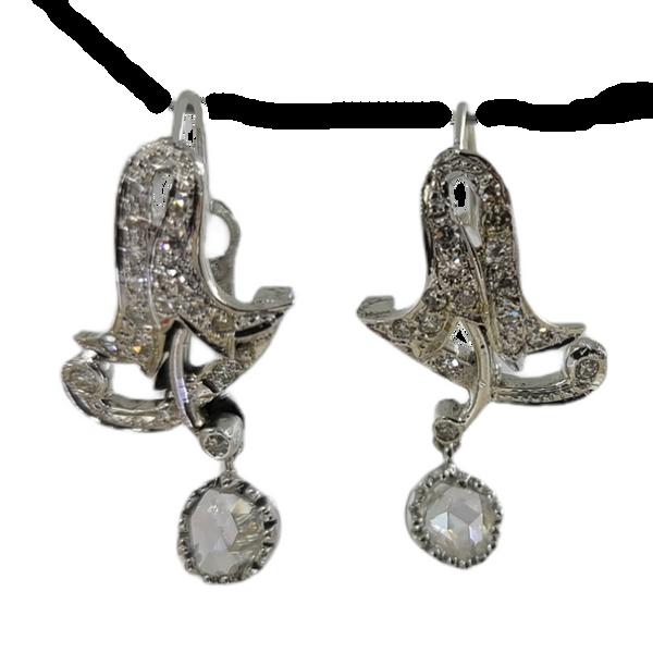 antique-diamond-drop-earrings