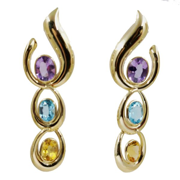 Amethyst-topaz-citrine-drop-earrings