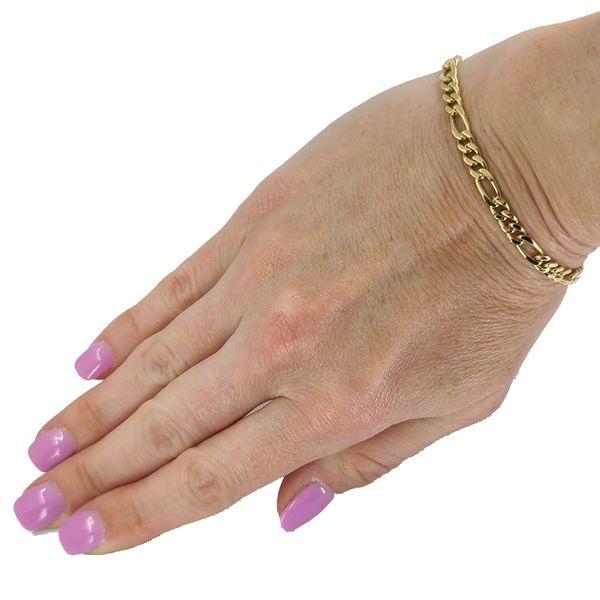 yellow-gold-figaro-chain-bracelet