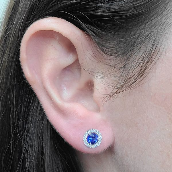 Sapphire-Diamond-halo-Stud-Earrings