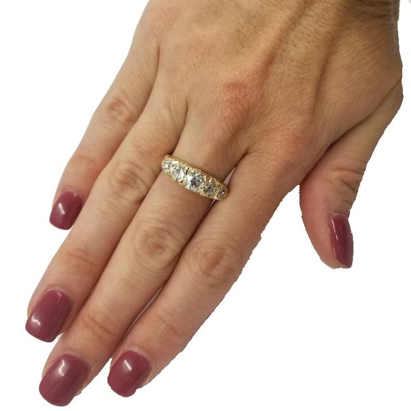 Estate-Yellow-gold-diamond-ring