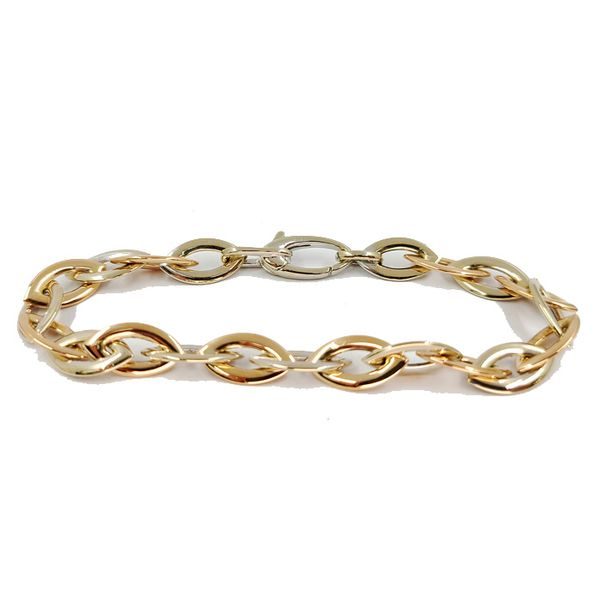 18-karat-white-and-rose-gold-link-bracelet