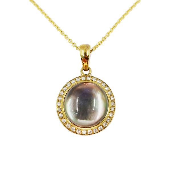 Mother-of-pearl-quartz-diamond-necklace