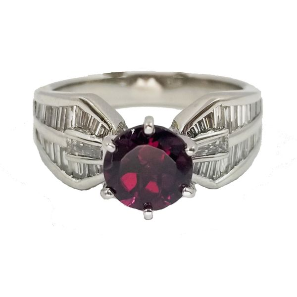Rhodolite-Garnet-Diamond-ring