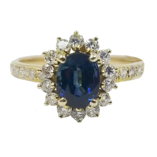 Sapphire and Diamond Ring Jae's Jewelers Coral Gables, FL