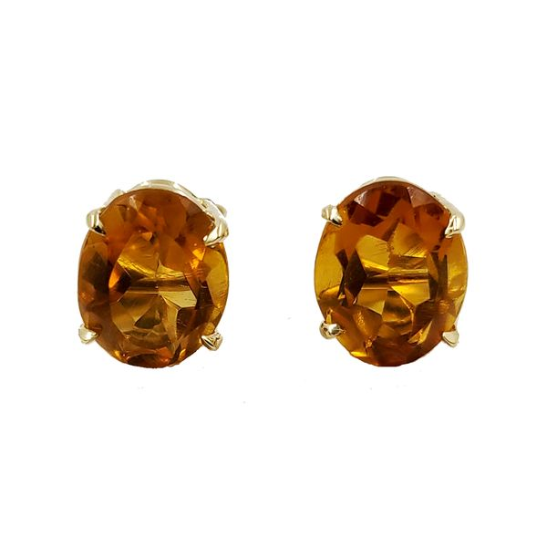 Citrine-oval-stud-earrings
