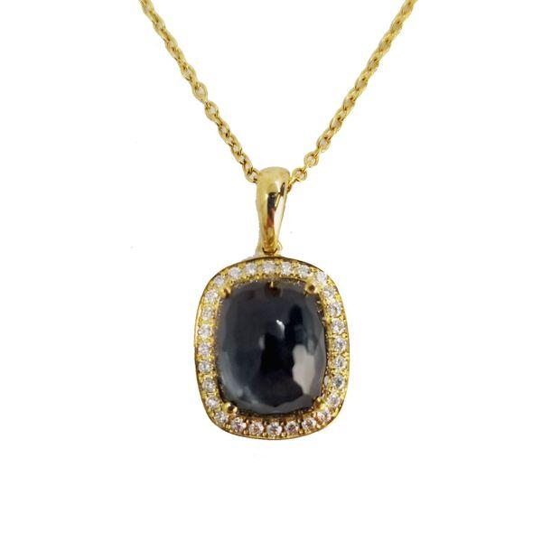 Hematite-Quartz-Diamond-Gold-pendant