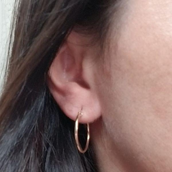 Narrow Tube Hoop Earrings Image 2 Jae's Jewelers Coral Gables, FL