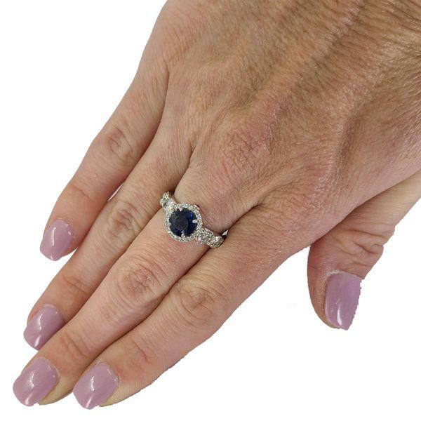 Sapphire-and-diamond-bezel-ring