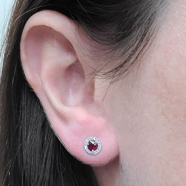 Ruby-Diamond-halo-Stud-Earrings