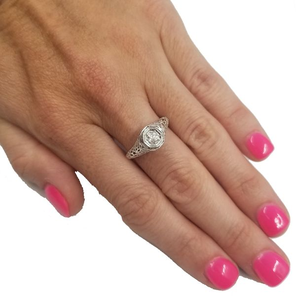 Vintage Inspired Diamond Ring  Image 4 Jae's Jewelers Coral Gables, FL