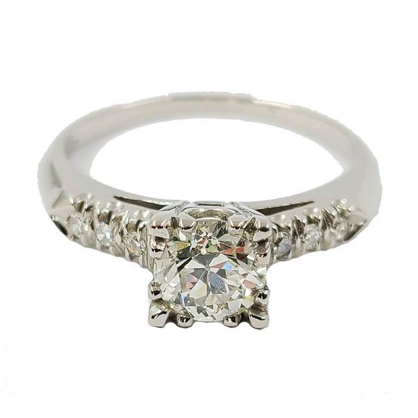 Platinum-European-cut-diamond-engagement-ring