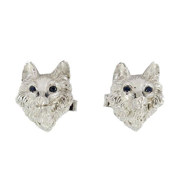 white-gold-wolf-cufflinks