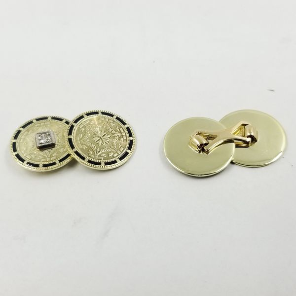 Diamond and Enamel Cufflinks  Image 2 Jae's Jewelers Coral Gables, FL