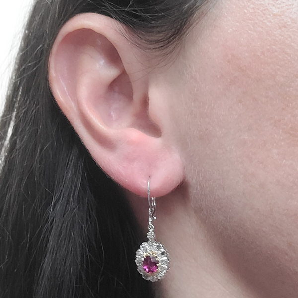 Antique-Ruby-and-diamond-yellow-gold-drop-earrings