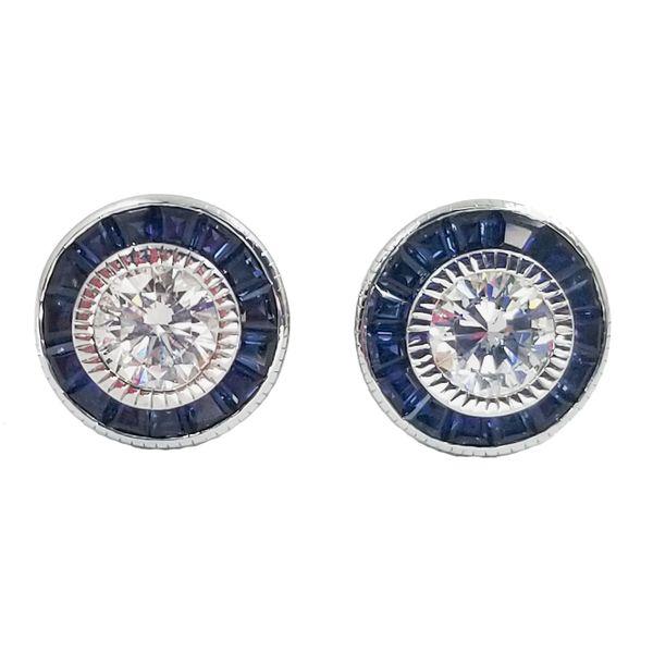 Diamond-Sapphire-stud-earrings