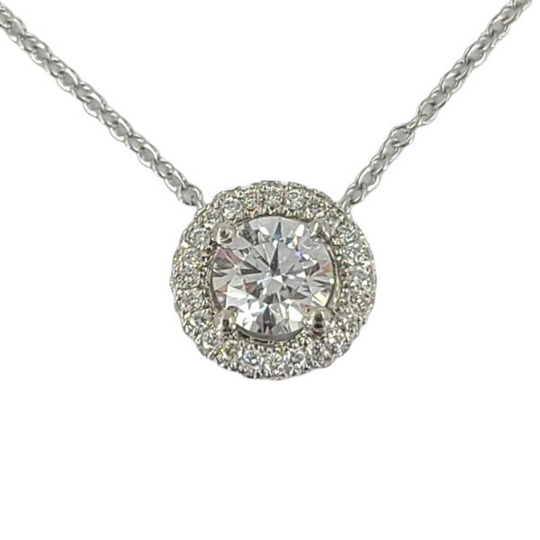 Diamond-with-diamond-halo-pendant-necklace