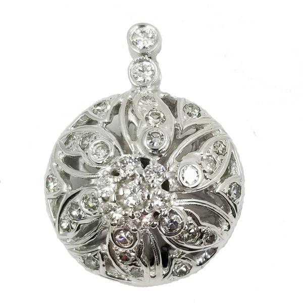 Vintage-Diamond-openwork-pendant