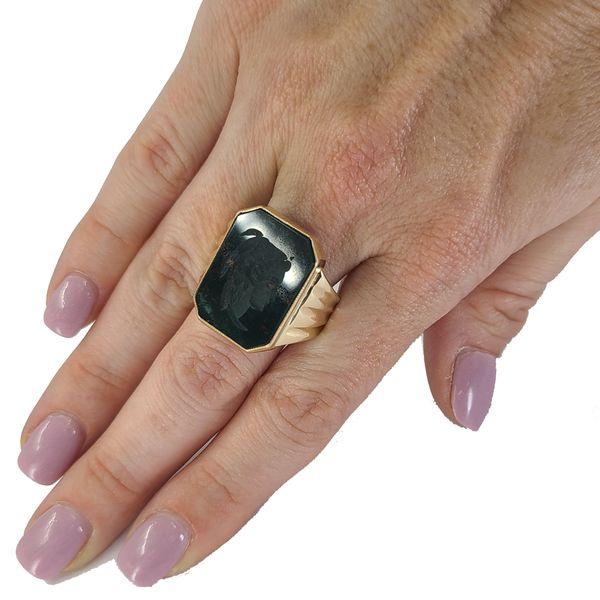 bloodstone-intaglio-ring