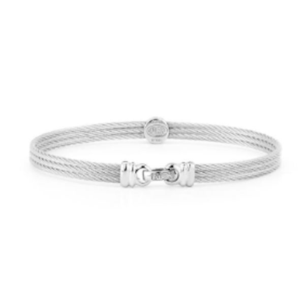 Alor-White-Gold-grey-Steel-bracelet