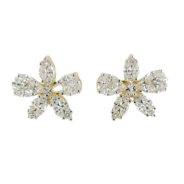 Diamond-flower-earrings
