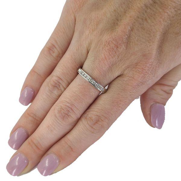 Estate-diamond-channel-set-wedding-band