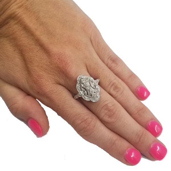 Vintage Inspired Diamond Dinner Ring  Image 4 Jae's Jewelers Coral Gables, FL