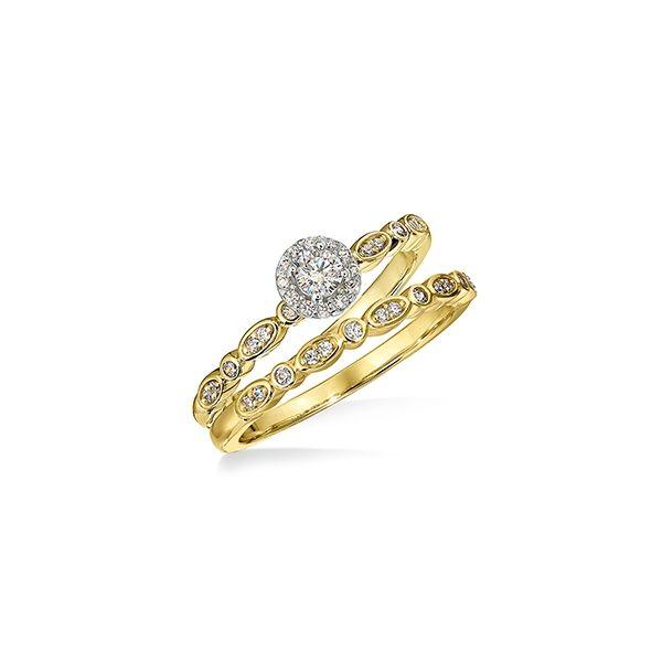 Diamond Halo pinch engagement ring Jerald Jewelers Latrobe, PA