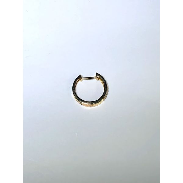 14kt yg Pave hoop earrings Image 2 Jerald Jewelers Latrobe, PA