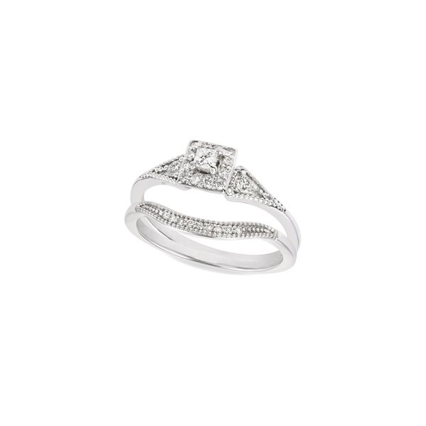 Vintage Princess Diamond Ring Set Jerald Jewelers Latrobe, PA