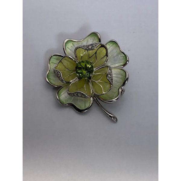 FOUR LEAF CLOVER BROOCH-PENDANT Jerald Jewelers Latrobe, PA