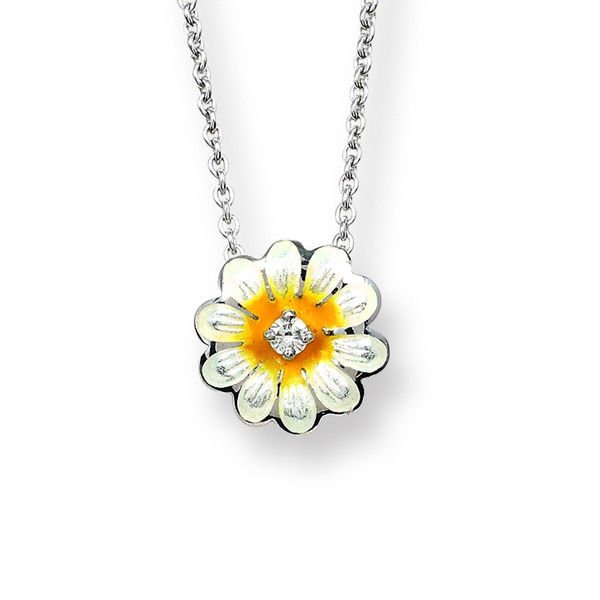 WHITE DAISY NECKLACE Jerald Jewelers Latrobe, PA