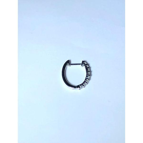 14kt wg Shared prong Diamond Hoops Image 2 Jerald Jewelers Latrobe, PA