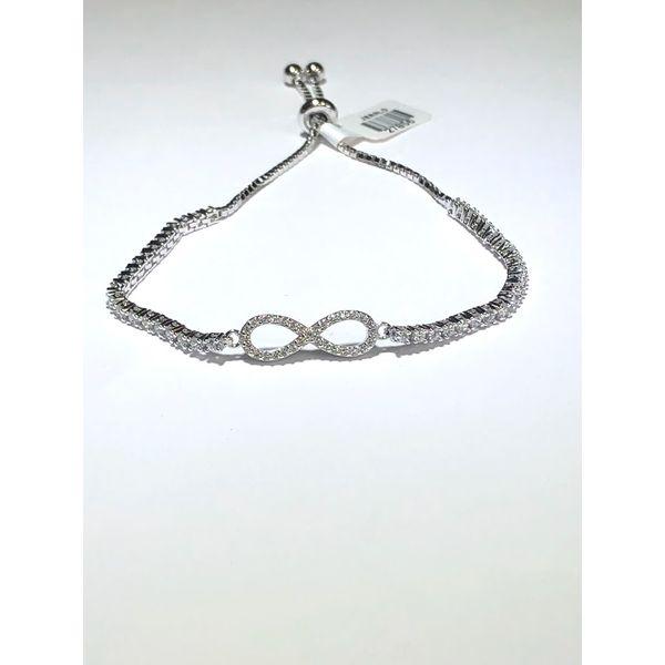SS Cubic Zirconia infinity bolo bracelet Jerald Jewelers Latrobe, PA