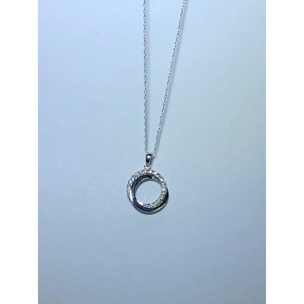 10kt WG Double open circle diamond pendant Jerald Jewelers Latrobe, PA