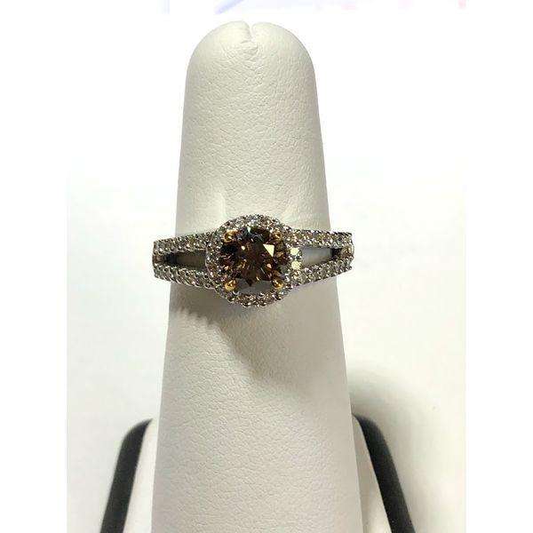 Chocolate and White Diamond Ring Jerald Jewelers Latrobe, PA
