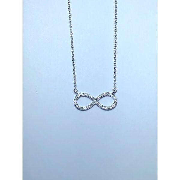 14kt wg Diamond Infinity Necklace Jerald Jewelers Latrobe, PA