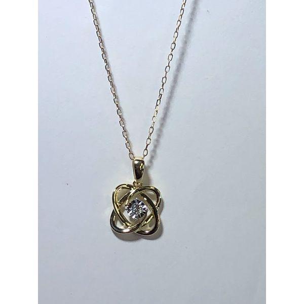 10kt yg Diamond Knot Pendant Jerald Jewelers Latrobe, PA