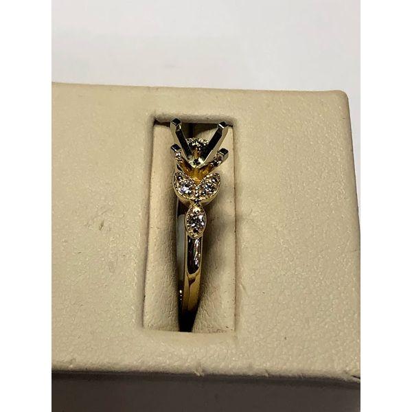 14kt YG Diamond Semi Mount Image 3 Jerald Jewelers Latrobe, PA