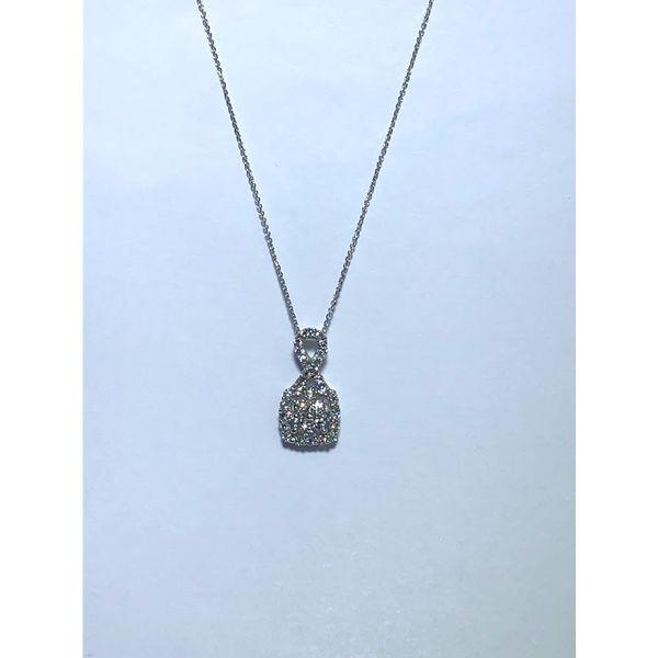 14kt wg Diamond Cluster pendant Jerald Jewelers Latrobe, PA