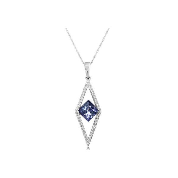 PEACOCK TANZANITE/DIAMOND PENDANT Jerald Jewelers Latrobe, PA