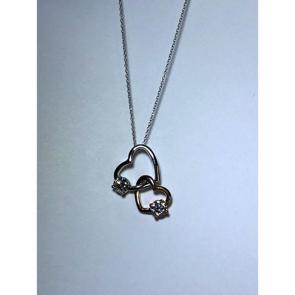 14k double open heart pendant Jerald Jewelers Latrobe, PA