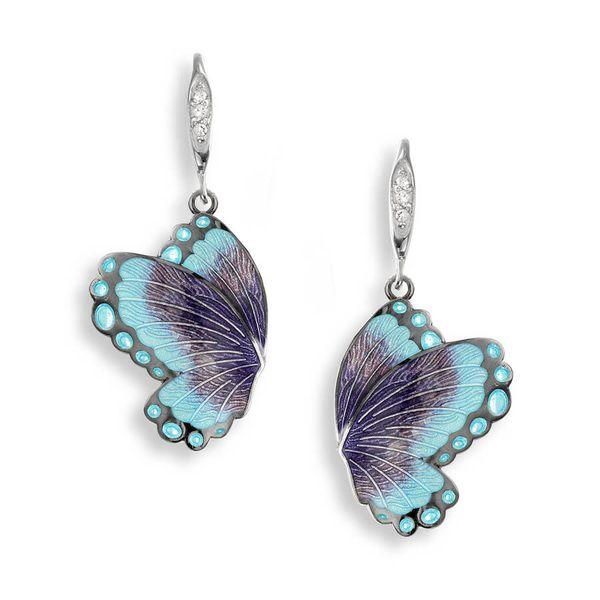 BLUE BUTTERFLY EARRINGS Jerald Jewelers Latrobe, PA