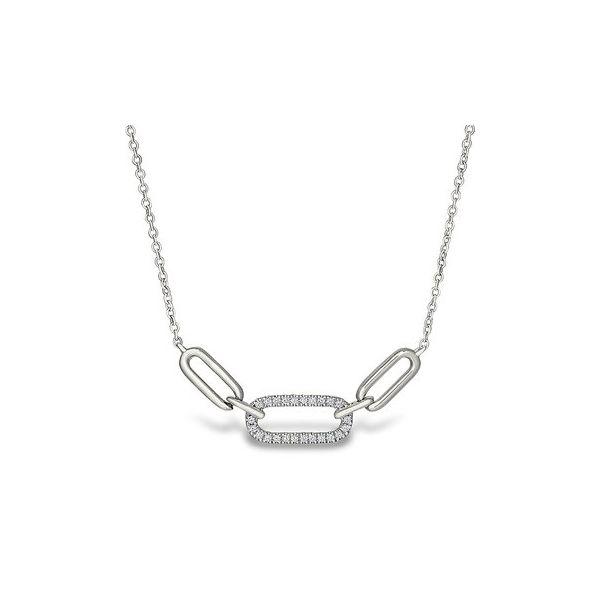 White gold, 3-link paper clip necklace Jerald Jewelers Latrobe, PA