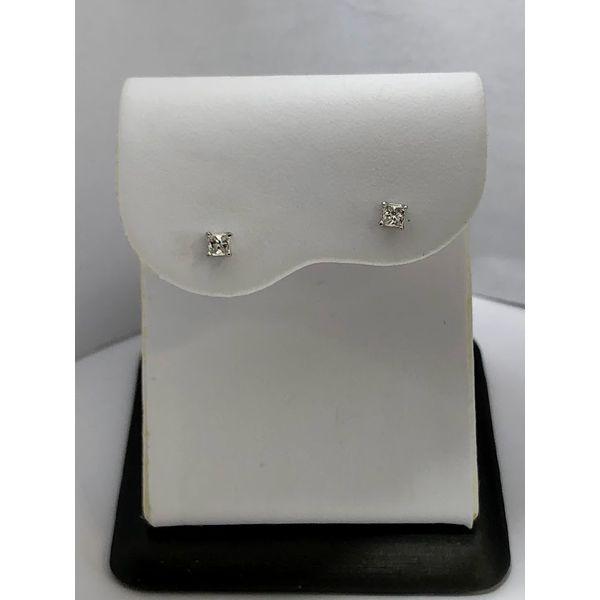 Princesses cut Diamond studs Jerald Jewelers Latrobe, PA